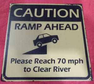 Caution - Ramp Ahead | Sign