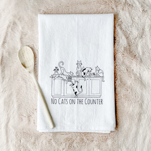 No Cats on the Counter Tea Towel
