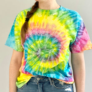 Choose Joy Tie-Dye Rainbow T-Shirt