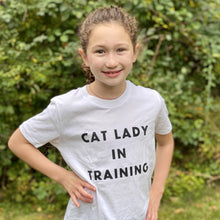 Load image into Gallery viewer, Cat Lady in Training Youth Tee