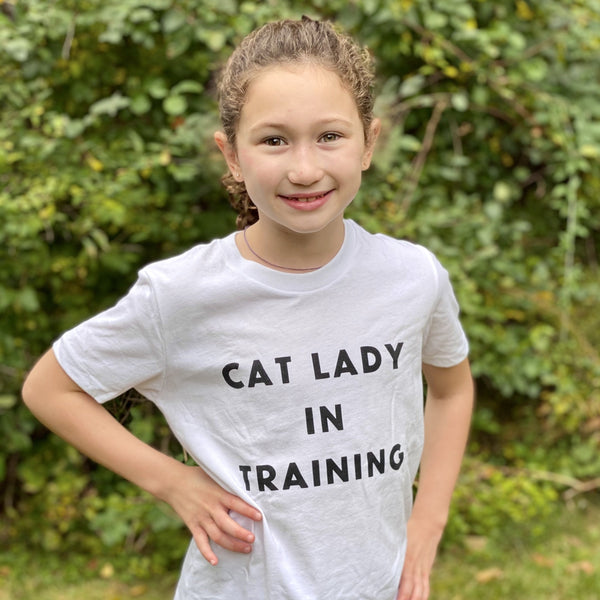 Cat Lady in Training Youth Tee