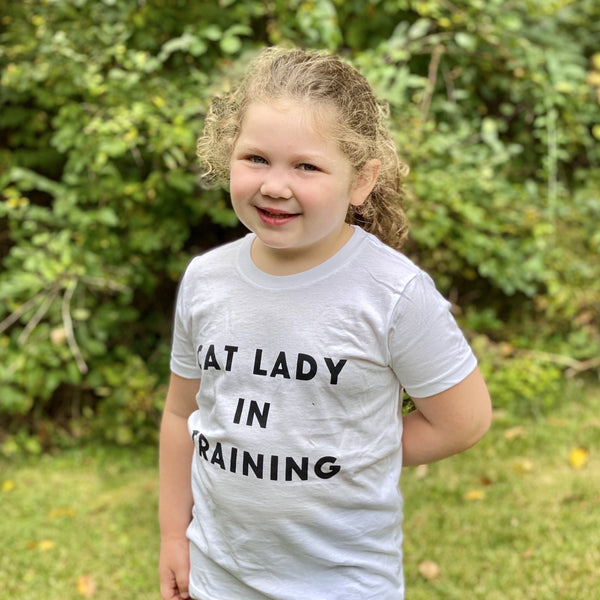 Cat Lady in Training Toddler Tee