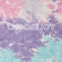 Load image into Gallery viewer, Choose Joy Tie-Dye Cotton Candy Hooded Sweatshirt