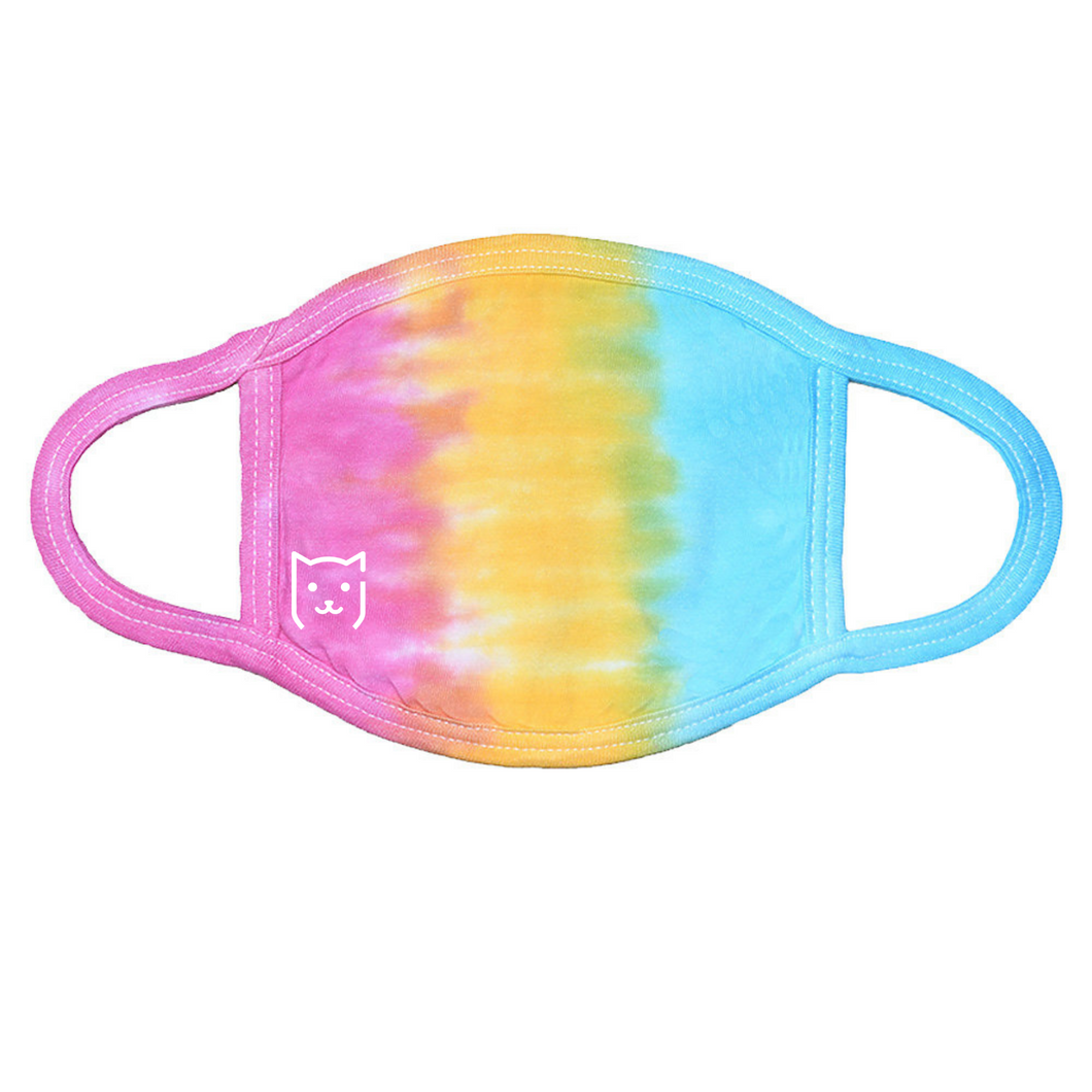 Adult Tie-Dye Rainbow Face Mask