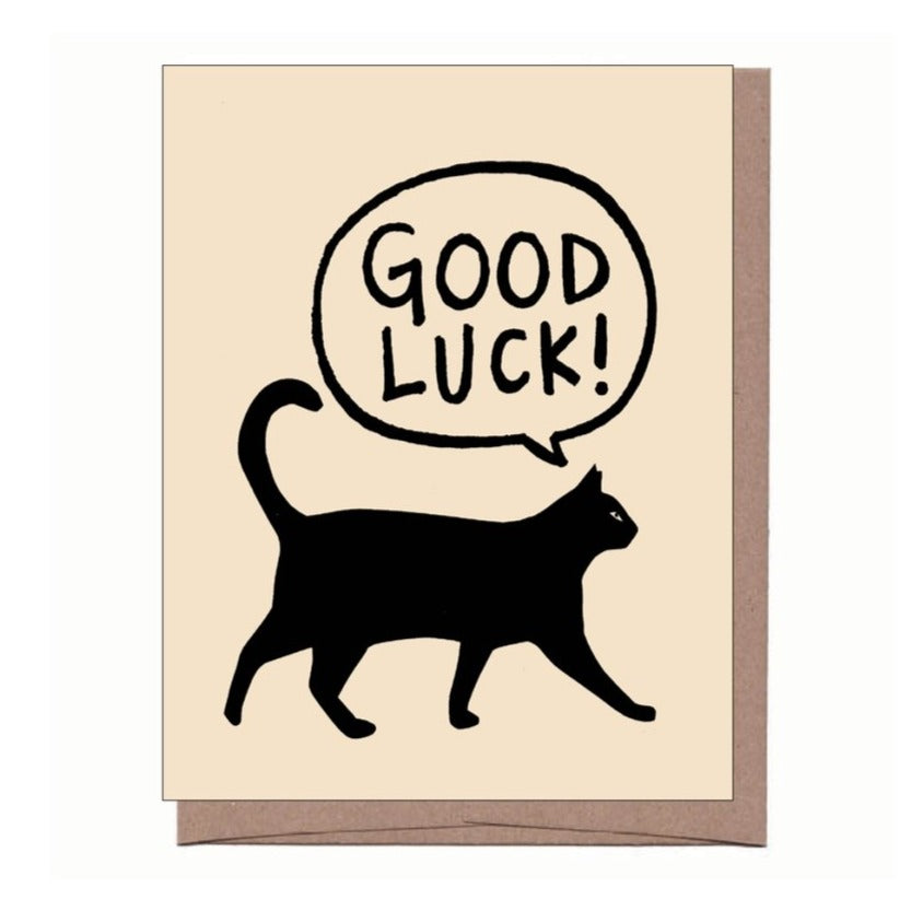 Black Cat Good Luck Card