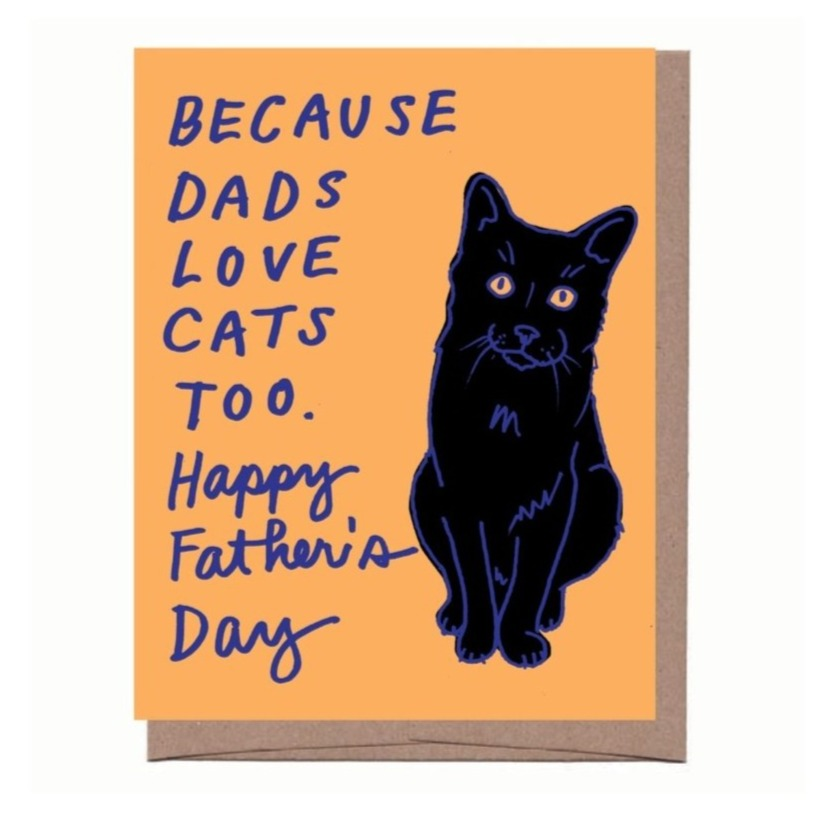 Cat Dad Father's Day Card