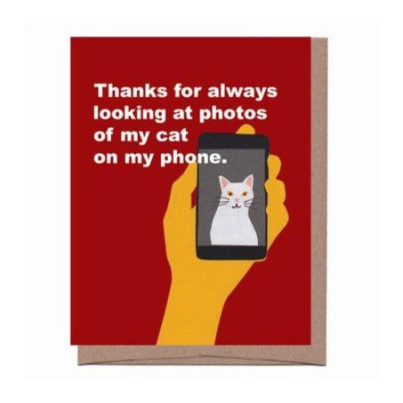 Thanks for Looking at my Cat Card