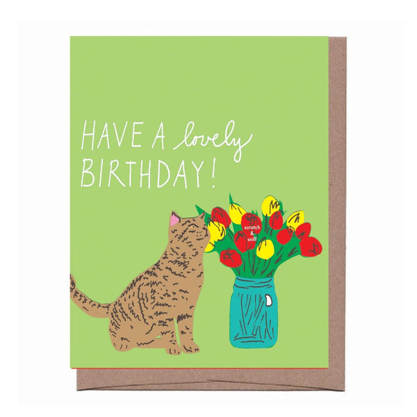 Scratch & Sniff Flower Birthday Card