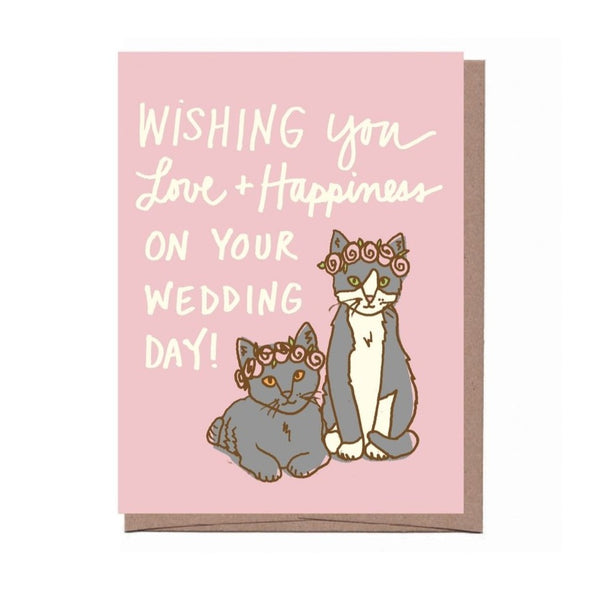Wedding Cats Greeting Card