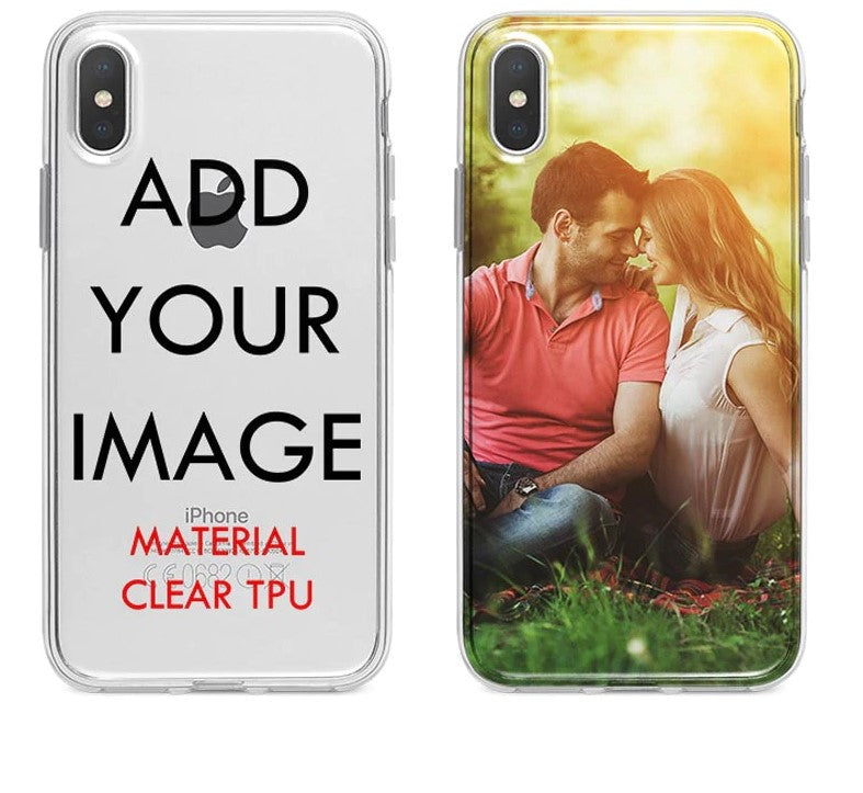 Customized Silicone Case Cover For iPhone XS MAX XR 6 6s 7 8 plus 5S
