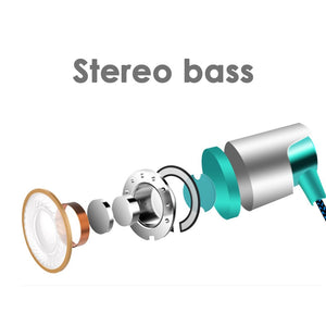 Metal Wired Earphone Super Bass