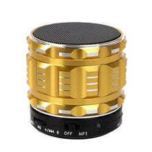 Load image into Gallery viewer, Metal Sub-woofer Mini Bluetooth Speaker