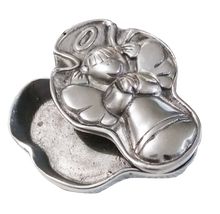 Load image into Gallery viewer, alhajero de niña cruz pewter para recuerdo bautizo