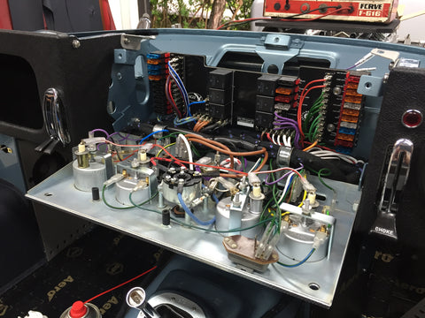 Classic Retrofit electrical panel installation in Eagles brand new Spyder GT