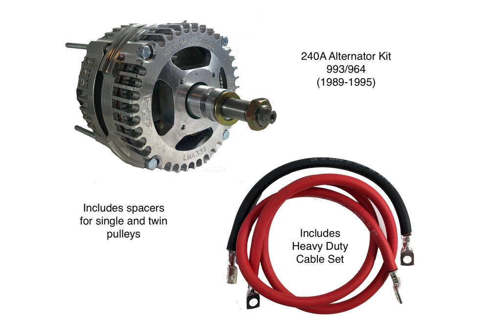 Porsche 964/993 High Output 240A Alternator Kit (1989-1995)
