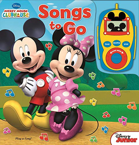 Disney - Mickey Mouse And Minnie Mouse Digital Music Player Board Book - Songs To Go - Play-A-Song - Pi Kids