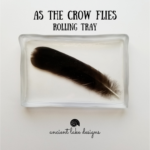As The Crow Flies Rolling Tray
