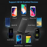 Qi Wireless Charger For Samsung S9 S8 S7 Note 9 8 Fast Wireless Charging Dock For iPhone XS MAX XR X 8 Plus USB Charger