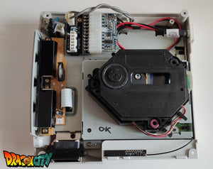 Dreamcast GDROM / G1-ATA / GD-IDE + SATA + Alim DC-PSU + NTSC Patch 50Hz/60Hz Auto + DCHDMI + Bios Dreamboot + Led Bleue + Pile Neuve + Ventilateur Silencieux