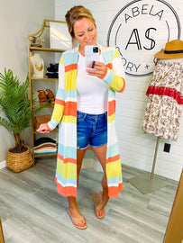 Nothing but Sun Striped Duster Cardigan