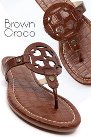 Lulu Coco Brown Thong Sandals