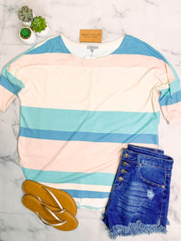 Day Dreaming Color Block Top