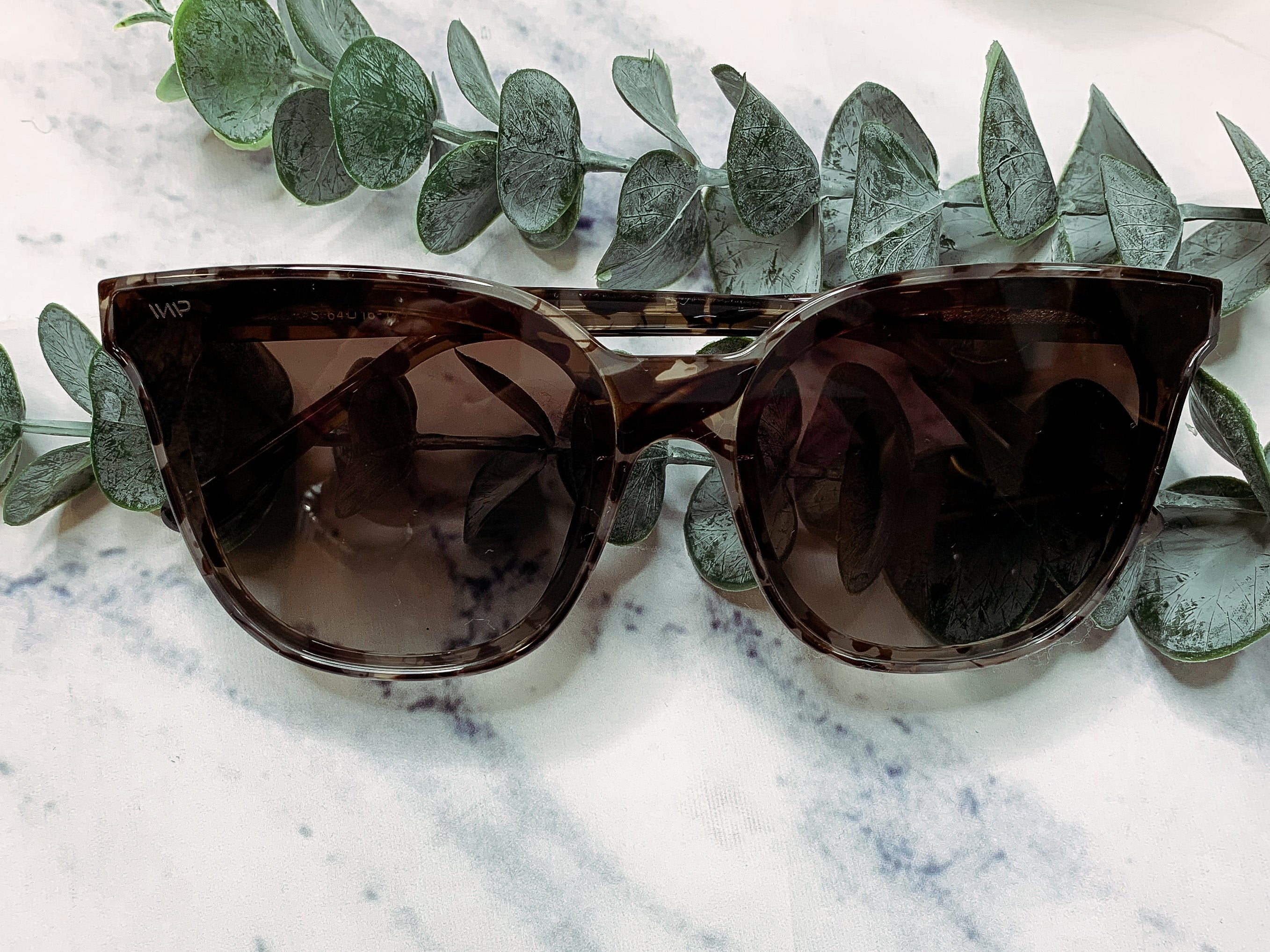 Lucy Oversized Square Flat Lens Mirror Sunglasses