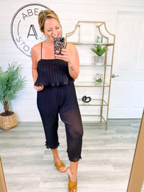 Grand Entrance Pleated Jumpsuit