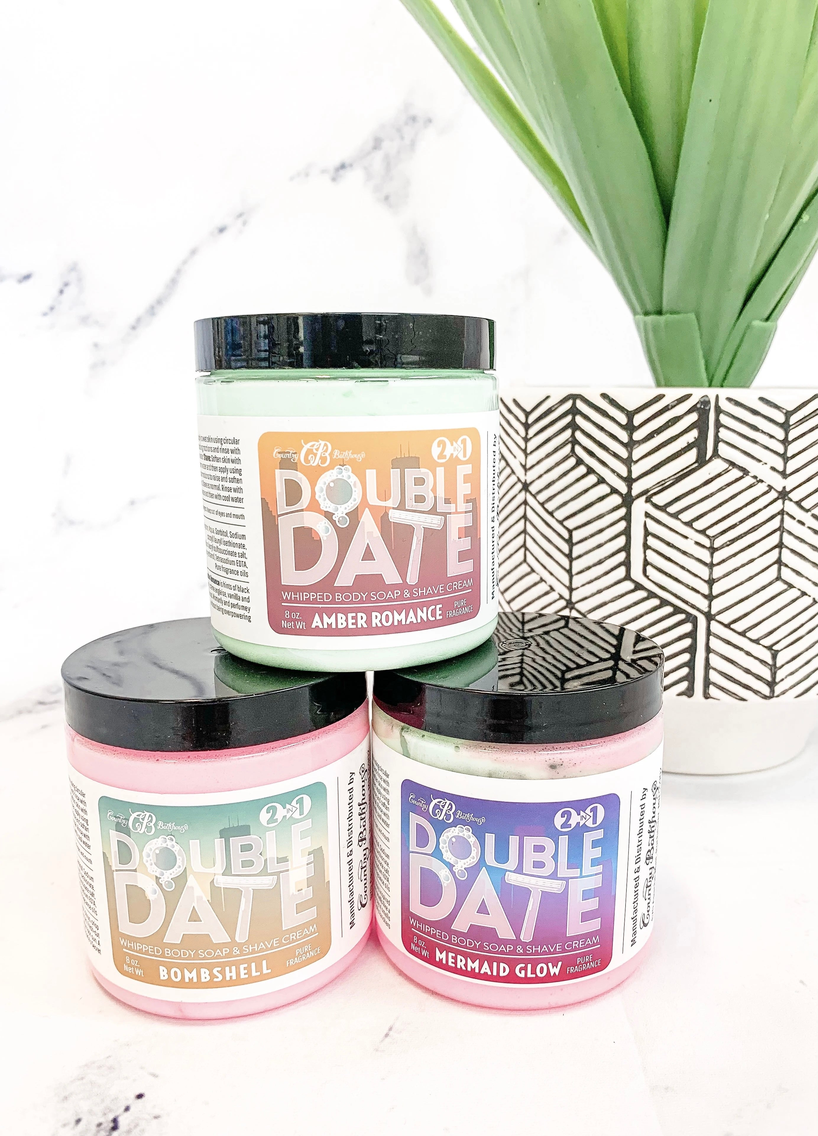 Double Date Whipped Soap and Shave Cream - Christmas Wish