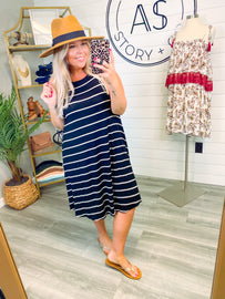 Ready For Anything Striped Sleeveless Dress