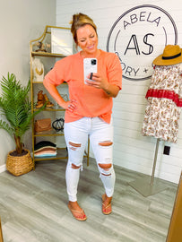 White Horse Distressed Skinny Jeans
