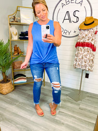 New and Different Distressed Cropped Flare Jeans Waitlist Presale