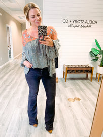 Moving On High Rise Flared Jeans