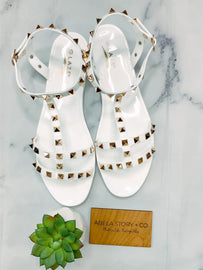 Tiana Studded Sandals - White