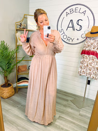 Meant for Us Tiered Woven Maxi - Dusty Rose