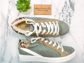 Bevin Grey Suede Fashion Sneakers