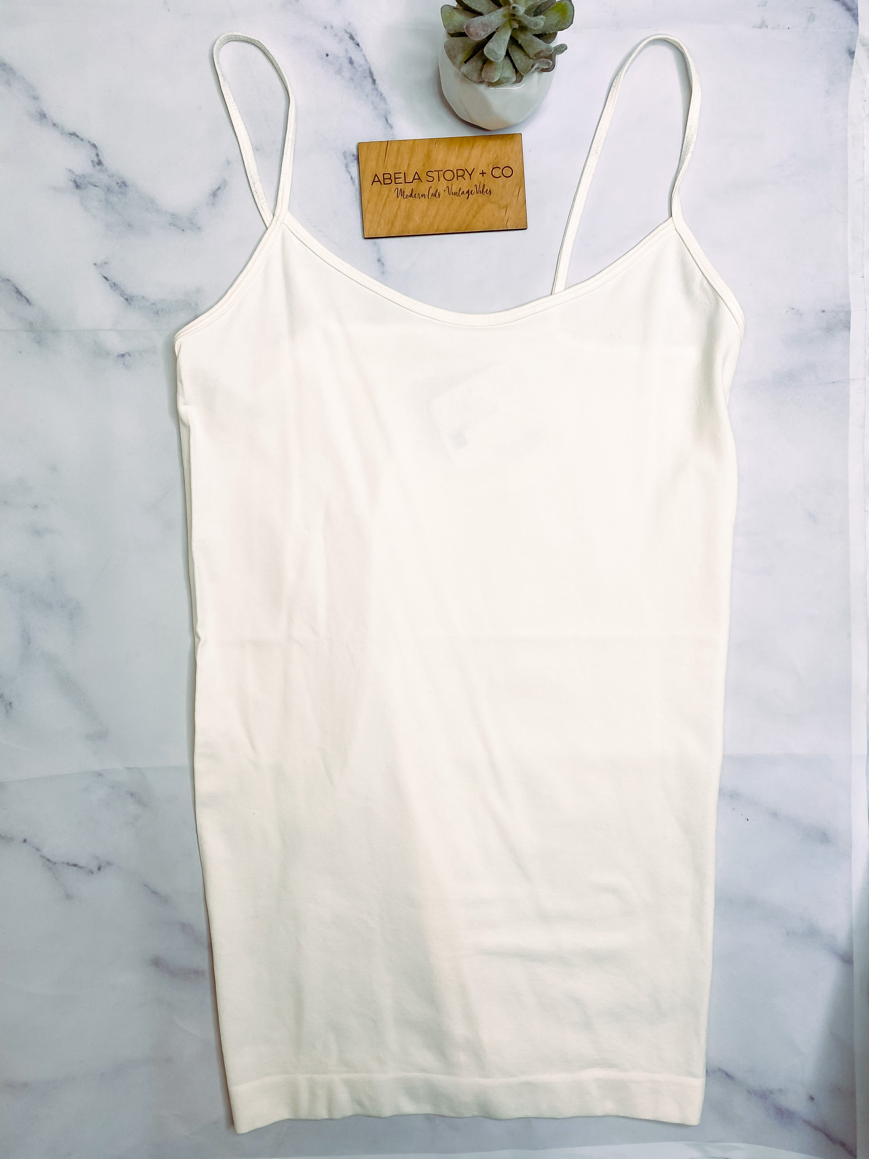 Sophie Seamless Tunic Cami Top - Ivory