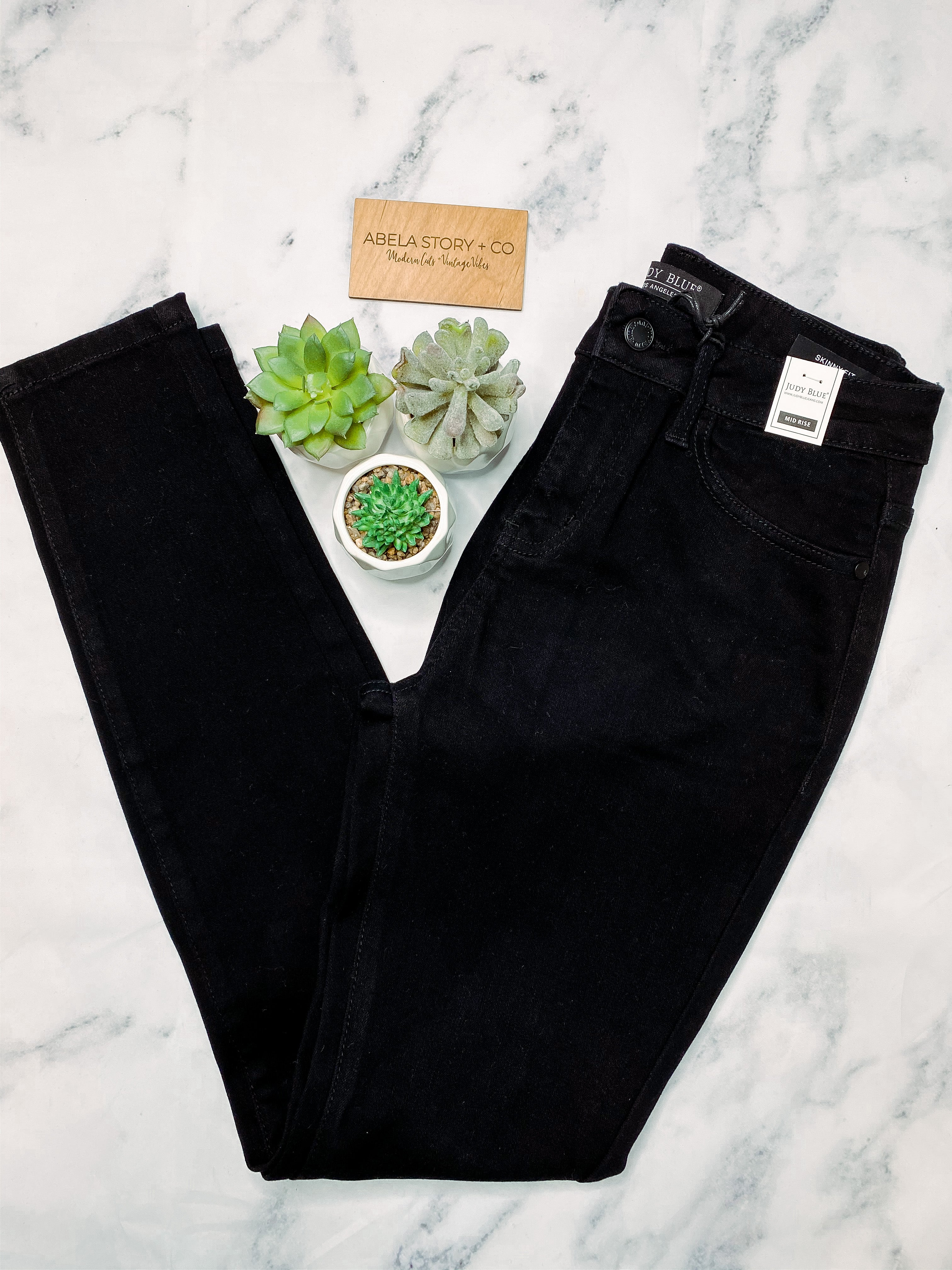 Challenge Accepted Black Mid-Rise Non- Distressed Skinny Jeans