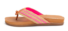 Quory Neon Pink Thong Sandals