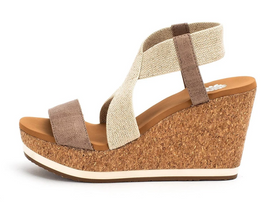 Aray Strappy Wedges - Taupe