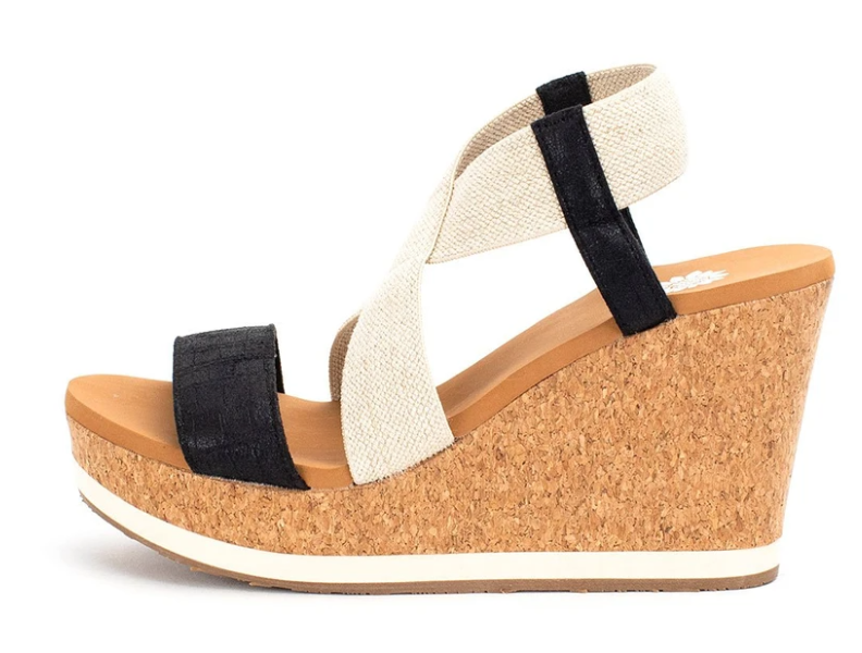Aray Strappy Wedges - Black