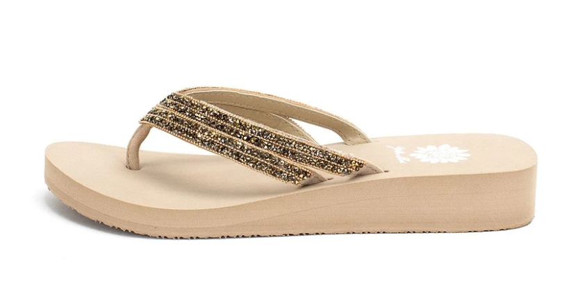 Janney Studded Thong Sandals - Taupe