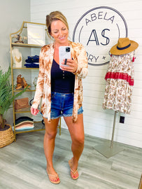 Living Carefree Tie Dye Open Front Cardigan