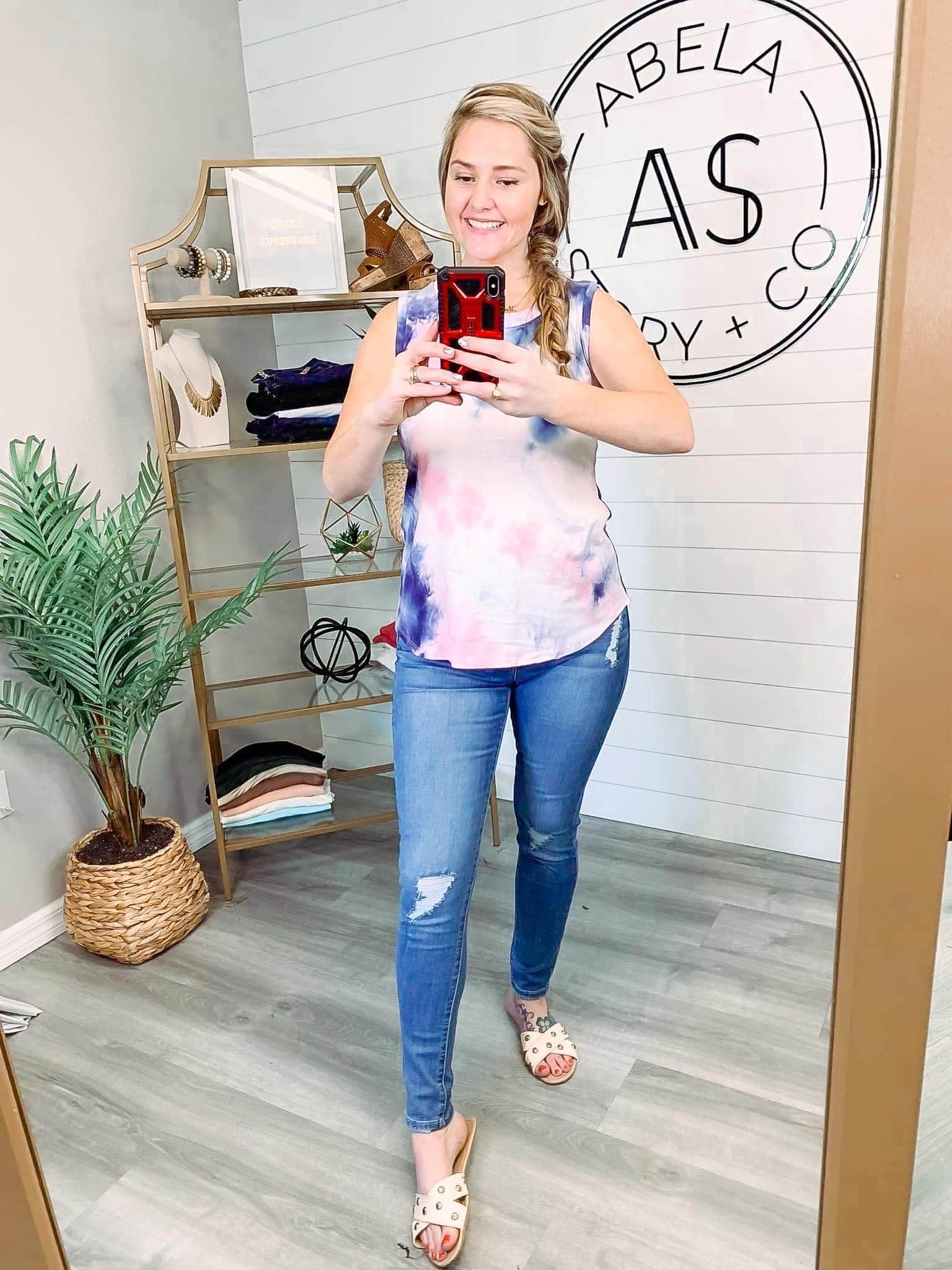 Colorful Vibes Tie Dye Sleeveless Top
