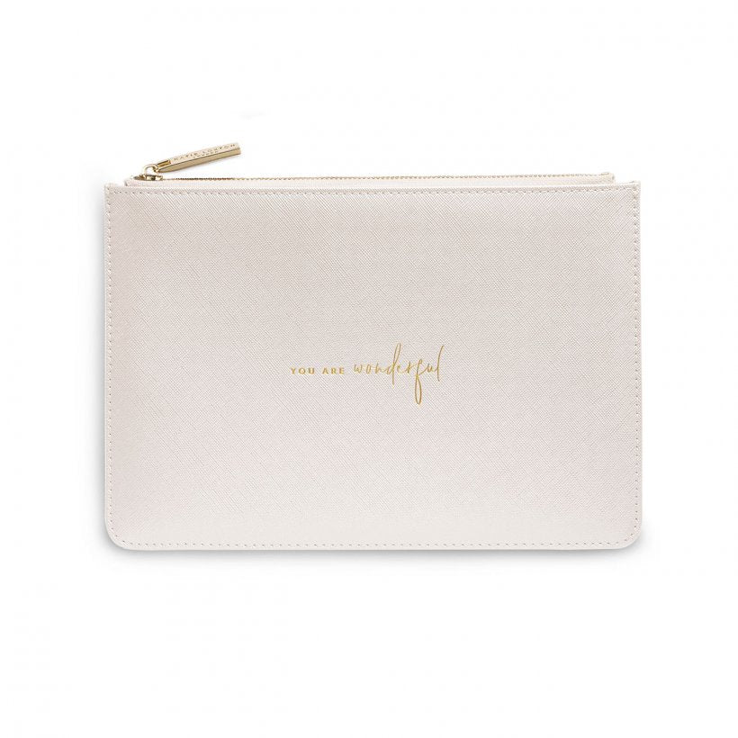 Perfect Pouch - You Are Wonderful - Metallic White