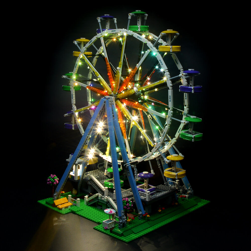 Briksmax Light Kit For Lego Creator City Street Ferris Wheel Model 10247