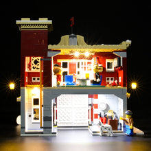 Load image into Gallery viewer, Briksmax Light Kit For Lego Winter Village Fire Station 10263