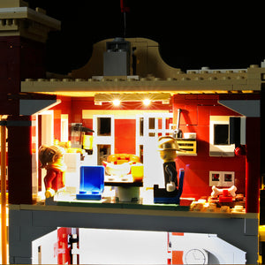 Briksmax Light Kit For Lego Winter Village Fire Station 10263