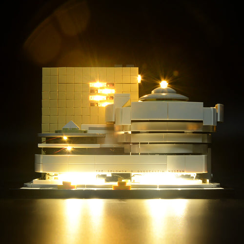 Briksmax Light Kit For Lego Solomon R. Guggenheim Museum 21035