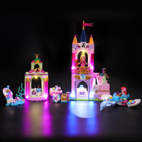 Briksmax Light Kit For Lego Aurora, Ariel and Tiana's Royal Celebration 41162